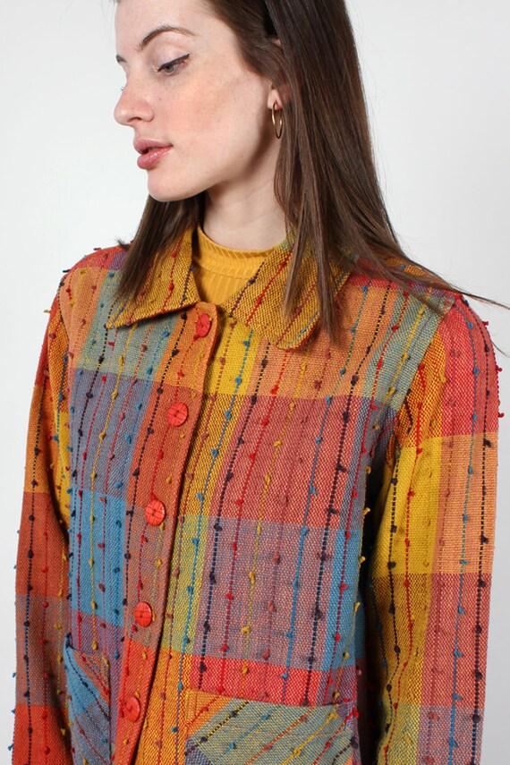 Rainbow Shag Jacket XS-M • 90s Jacket • Vintage R… - image 4