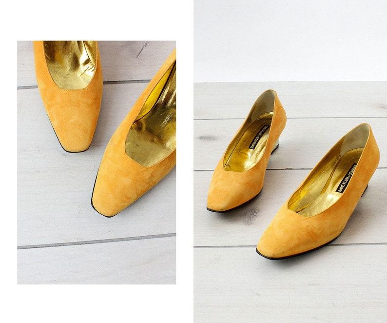dab59861a7a Saffron Suede Shoes 8 1 2 Anne Klein Couture Anne Klein