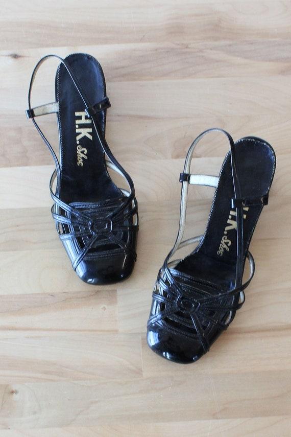 Spider Web Heels 5 • 60s Heels • Vintage Strappy S