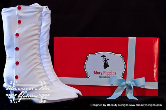Mary adulte guêtres Jolly vacances bottes et Costume Poppins victorienne Custom cTKFJl1