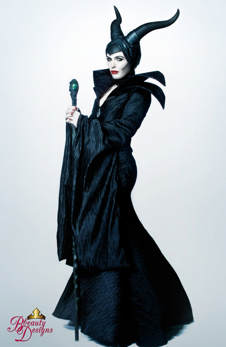Maleficent Couture Costume V A Villain Dress Gown Horns Headpiece Custom Made Adult