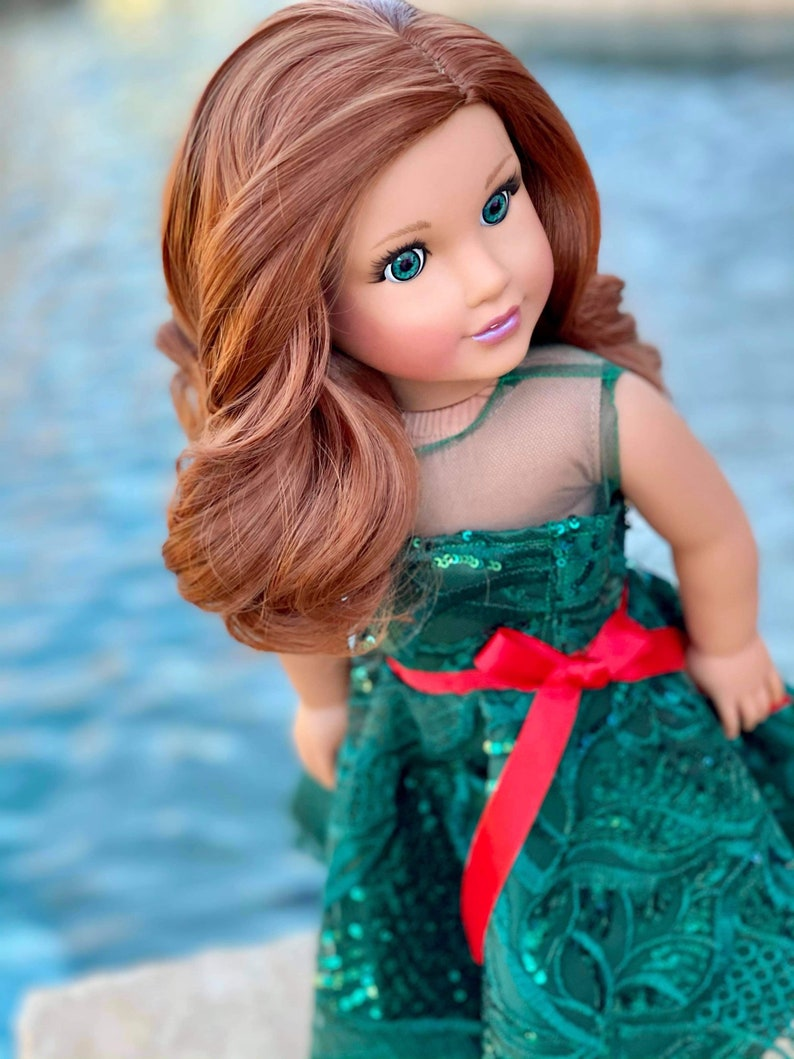 Kiki in Auburn Short Replacement Wig for American Girl Doll