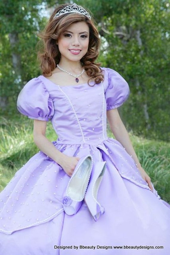 Sofia the First Princess Inspired Dress Gown Adult Size with | Etsy