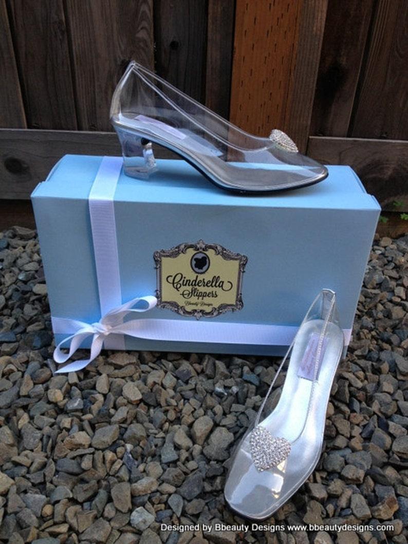 6bb41178d8fc8 Cinderella Heart Glass Slipper Style Adult Costume Pair Pumps