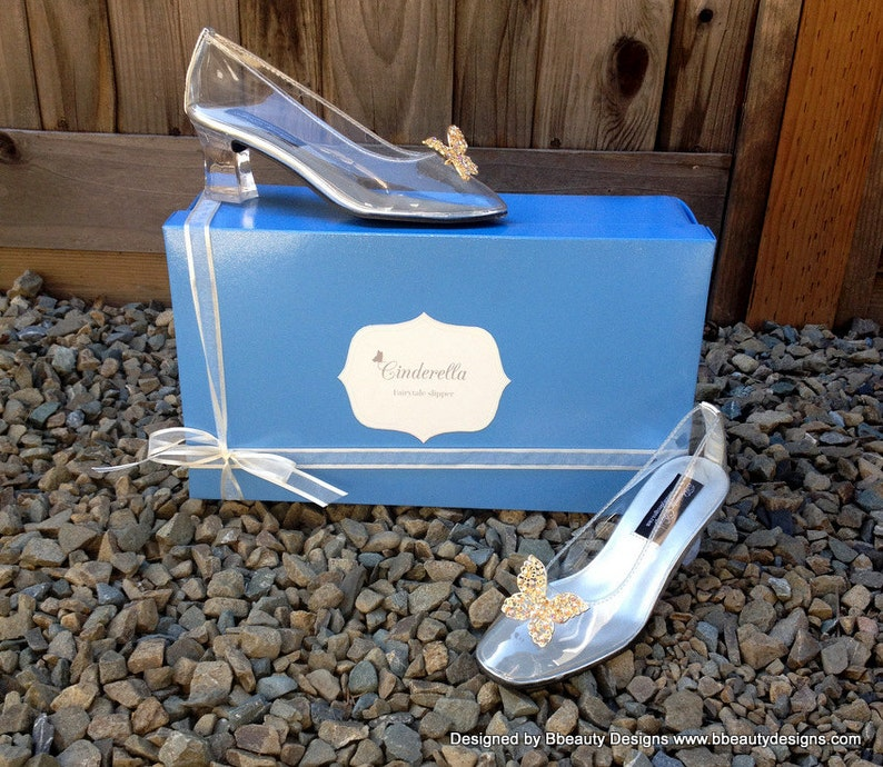 f6b567e64a72a Cinderella Live Action 2015 Butterfly Glass Slippers Style