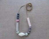 Memphis Porcelain Bead Necklace 30% OFF SALE