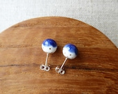 Gold Dot Snowball Stud Earrings