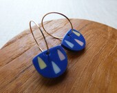 Forest Inlay Hoop Earrings Last