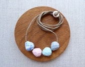 Faceted Droplet Porcelain Necklace SALE
