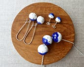 Gold Dot Snowball Kindney Wire Earrings