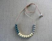 Trio Ceramic Bead Necklace 30% OFF SALE