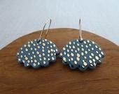 Speckled Jellyfish Hook Earrings
