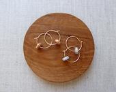 Speckled Bagel Hoop Earri...
