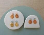 Moon & Egg Stud Earrings