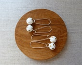 Lustre Polka Dot Kidney Wire Earrings