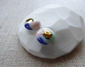 Watercolour Stud Earrings