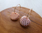 Gold Speckled Half Moon Hoop Earrings in Sorbet
