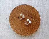 Lustre Onion Ball Stud Earrings