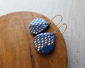 Speckled Raindrop Hook Earrings