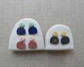 Moon & Mountain Stud Earrings in 3 colours