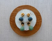 Moon and Shell Stud Earrings in 5 Colours