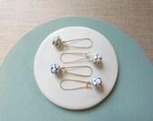 Pinecone Gold Kidney Wire Earrings