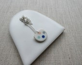 Polka Dot Inlay Necklace Sample SALE