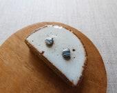 Small Starburst Marble Raindrop Stud Earrings