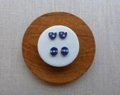 3 Dot Halfmoon Stud Earrings