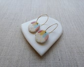 Day and Night Oval Earrings