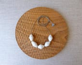 Faceted Porcelain Bead Necklace SALE