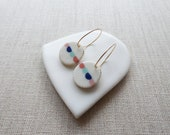 Bunting Inlay Earrings Sample SALE