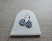 Ocean Hand Painted Droplet Earrings