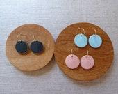 Starburst L Round Disc Earrings