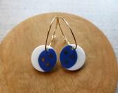 Starry Night Inlay Hoop Earrings