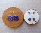Indigo Gold Dash Hoop Ear...