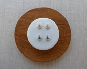 Echo Inlay Stud Earrings