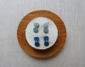 2 Pebble Starburst Stud Earrings 3 colours