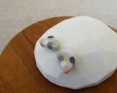 Rice Paddy Porcelain Stud Earrings