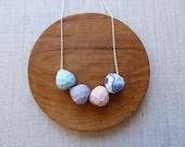 Faceted Droplet Necklace 60cm chain