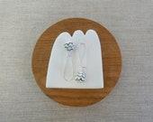 Pinecone Long Kidney Wire Earrings