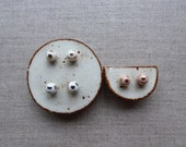Lustre Polka Dot Ball Stud Earrings