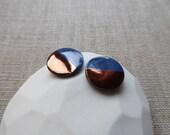 Copper Dip Round Stud Earrings since 2012