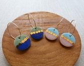 Gold Chain Hoop Earrings