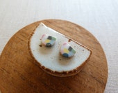 Starburst Rice Paddy Stud Earrings