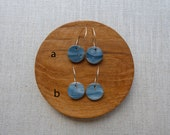 Starburst Black Marble Hoop Earrings Sample