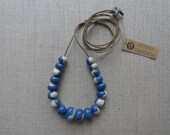 Glazed Pebble Bead Necklace Sample SALE