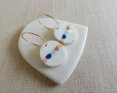 Bunting Oval Drop Earrings