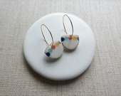 Inlay Pearl Earrings Sample SALE