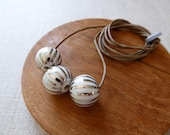 Lustre Hand Painted Onion Ball Necklace
